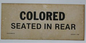 colored seating sign