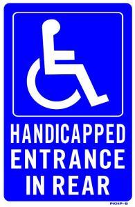 handicap entrance at rear