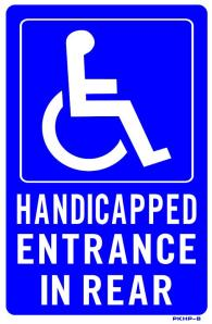 handicap entrance at rear